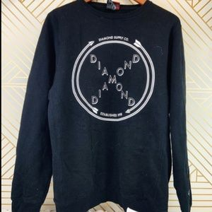 Diamond Black Crewneck Sweater Men Size M